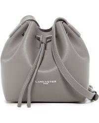 Lancaster Paris - Pur Saffiano Leather Mini Bucket Bag - Lyst