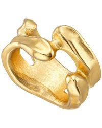Uno De 50 Open Space Irregular Band Ring - Metallic