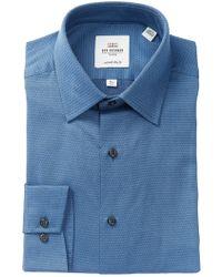 Ben Sherman - Grey Dobby Print Slim Fit Dress Shirt - Lyst