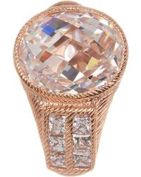 Judith Ripka - Rose Gold Plated Sterling Silver Cz Clip Earrings - Lyst