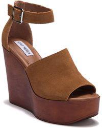 Steve Madden - Prime Ankle Strap Wedge Platform Sandal - Lyst
