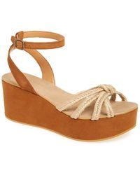 TOPSHOP | 'weave' Platform Wedge Sandal | Lyst