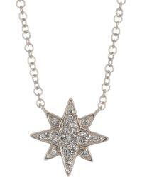Ron Hami - 14k White Gold Pave Diamond Starburst Pendant Necklace - 0.06 Ctw - Lyst