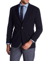 Kenneth Cole | Soft Dot Trim Fit Blazer | Lyst