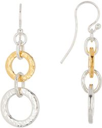 Gurhan - Two-tone Double Tapered Hoopla Earrings - Lyst