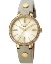Ferrè Milano - Women's Swiss Ronda 763e Watch, 34mm - Lyst