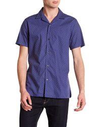 JB Britches - Spot Short Sleeve Trim Fit Shirt - Lyst