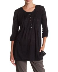 Casual Studio - Burn Out Knit Henley - Lyst