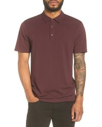Vince - Mix Stitch Polo - Lyst