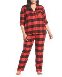 Nordstrom - Starlight Plaid Flannel Pajamas (plus Size) - Lyst