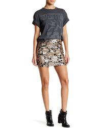 Romeo and Juliet Couture - Flower Sequined Mini Skirt - Lyst