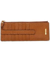 Lodis - Steph Lock & Key Leather Credit Card Case & Zip Pocket - Lyst