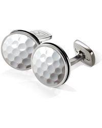 M-clip - Polished Round Golf Cuff Links - Lyst
