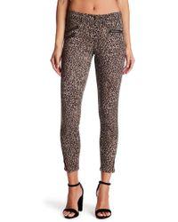 Jolt - Leopard Print Ponte Stretch Knit Pants - Lyst