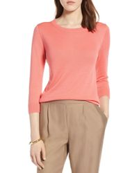 Halogen - (r) Cotton Blend Pullover (regular & Petite) - Lyst