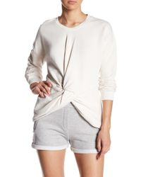 Sincerely Jules - Knot Front Cotton Sweatshirt - Lyst