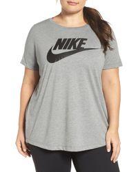 sports shoes c0ff2 d349f Nike - Plus Size Futura T-shirt - Lyst