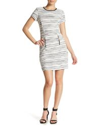 Sharagano | Short Sleeve Textured Dress (petite) | Lyst