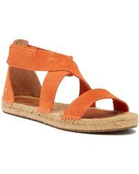 234970da417f Lyst - Clarks Breeze Mila Open Toe Canvas Flip Flop Sandal in Blue