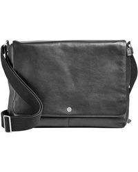 Skagen - Eric Leather Messenger Bag - Lyst