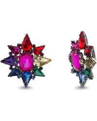 Steve Madden - Rhinestone Cluster Star Drop Earrings - Lyst