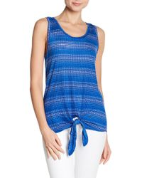 Tommy Bahama - Dotted Lines Tie Front Linen Tank - Lyst