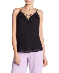 Naked Zebra - Ruffle Trim Strappy Tank Top - Lyst