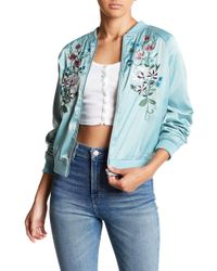 Romeo and Juliet Couture - Embroidered Satin Bomber Jacket - Lyst