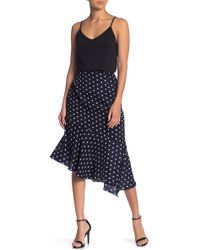 Lush - Asymmetrical Polka Dot Skirt - Lyst