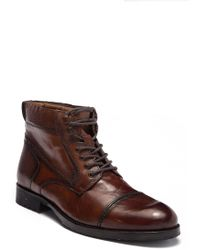 Kenneth Cole Reaction - Brewster Leather Lace-up Boot - Lyst