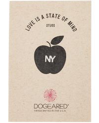 Dogeared   Love Is A State Of Mind Ny Single Stud Earring   Lyst