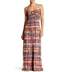 Sky - Senca Paisley Beaded Bodice Maxi Dress - Lyst