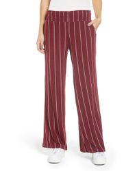 Love, Fire - Stripe Knit Wide Leg Pants - Lyst