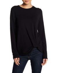 Cable & Gauge - Twist Front Sweatshirt - Lyst