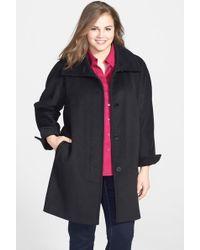 9f3dcb8e81c Ellen Tracy - Fly Front Wool Blend Topper (plus Size) - Lyst