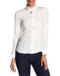 Hobbs - Renee Silk Blend Shirt - Lyst