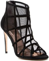 Ted Baker - Xstal Caged Suede Bootie - Lyst