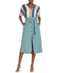 Lush - Button Down Maxi Skirt - Lyst