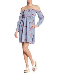 Sugarlips - Lolli Embroidered Off-the-shoulder Dress - Lyst
