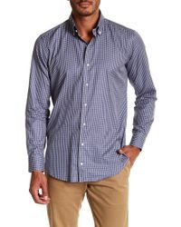 Peter Millar - Veneto Chequered Print Regular Fit Woven Shirt - Lyst