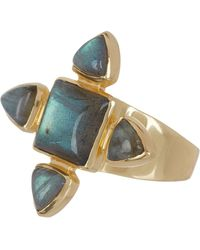 Sole Society - Large Semi Precious Stone Ring - Size 7 - Lyst