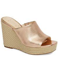 Jessica Simpson - Sirella Platform Wedge Slide Sandal (women) - Lyst
