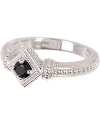 Judith Ripka - Sterling Silver Renaissance Single Stone Ring - Lyst