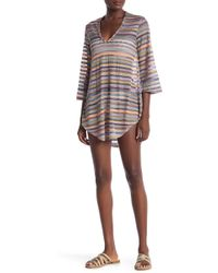 Jordan Taylor - Multicolor Crochet Tunic Cover-up - Lyst