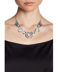 Judith Jack - Sterling Silver Swarovski Marcasite & Opal Crystal Pendant Collar Necklace - Lyst