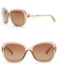 Guess - 58mm Polarized Butterfly Sunglasses - Lyst