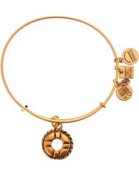 ALEX AND ANI - Charity By Design Life Preserver Charm Expandable Wire Bracelet - Lyst