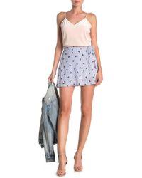 FAVLUX Ditsy Floral & Pinstripe Faux Wrap Skirt
