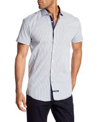 English Laundry - Checked Short Sleeve Classic Fit Shirt - Lyst