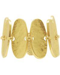 Karine Sultan - Hammered Oval Bracelet - Lyst